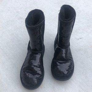 UGG 8 Black Sequins Boots